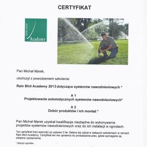 certyfikat nawodnienie BioArt1