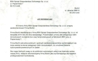 BSH Sprzęt Gospodarstwa Domowego Sp. z o.o.