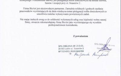 Spa Orkana Sp. z o.o.